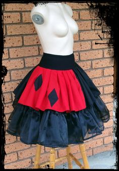 Harley Quinn Cosplay Skirt CUSTOM made for you by annaladymoon