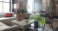 Loving the light in this room and loving the chairs even more! –Designer Visions: Matthew Patrick Smyth Transforms a Manhattan Apartment - ELLE DECOR