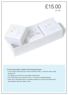 Silver keepsake box trio - personalised gift perfect for Christening or naming day