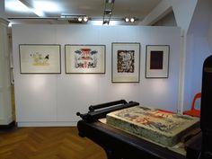 """Ein Blick in unsere neue Ausstellung """"IMPRESS. Druckgrafische Symposien des BBK LEIPZIG e.v."""" Laufzeit 22. November 2015 bis 24. Januar 2016 /// Foto: Museum für Druckkunst Leipzig"""