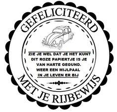 Tekst cirkel rijbewijs