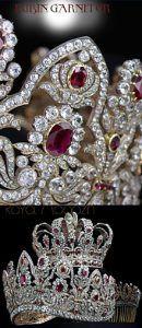 The French Crown Ruby Parure | Imperial Royal Jewels |Chaumet Schmuck Juwelen Tiara Comb Diadem Kamm Diamond