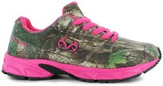 Indulge in your love for camo:synthetic upper, lightly cushioned insole, lace-up front provides a secure fit, durable rubber outsole for long-lasting wear, Realtree® logo along side, Note - When creating a shoe with a unique pattern or print, the design and color placement may vary slightly
