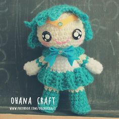 Sailor Mercury inspired crochet doll https://www.facebook.com/OhanaCraft/