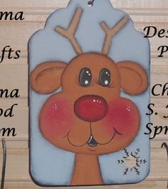 Wooden Reindeer Ornament by RomaLandWoodcrafts on Etsy