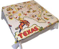 State of Texas Souvenir Map Tablecloth, 52 inch square Redandwhitekitchen http://www.amazon.com/dp/B005EMC90I/ref=cm_sw_r_pi_dp_S3Kyvb1JCA0YX