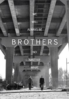 Supernatural... This makea.me sad. Because after all the crap that happens in their lives, in the end, their just two brothers against the world.