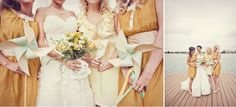 Love the color scheme! Not so much the bridesmaid dresses though...a lil' shaky.