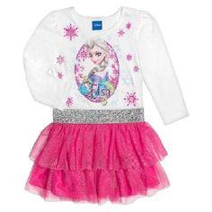 Disney Frozen Elsa Tutu Ruffle Dress New with Tags sz 5T Adorable!! Great Gift!! #Disney #DressyEverydayHoliday