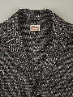 NN07 Men's Directors Cut Harris Tweed Selkirk Check Jacket in grey at oki-ni