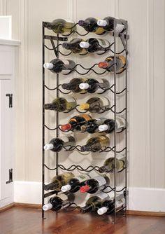 Oenophilia Alexander Wine Rack - 40 Bottle, Sturdy Metal Construction, Wobble-Free, Measures x x D Wine Cellar Racks, Wine Bottle Rack, Wine Glass Rack, Bottle Wall, Wine Rack Wall, Wine Cellars, Wine Bottles, Large Wine Racks, Standing Wine Rack