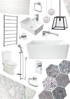 Clean, Modern bathroom renovation project. Click through to see process and finished room photos.