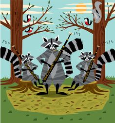 Raccoons Playing Bassoons