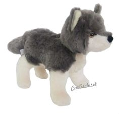 "Douglas Ashes GRAY WOLF Plush 8"" Stuffed Animal Realistic Cuddle Toy NEW #DouglasCuddleToy"