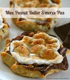 "These Mini Peanut Butter S'mores Pies are otherwise known as ""indoor s'mores"" at our house. This recipe makes just enough with no leftovers."