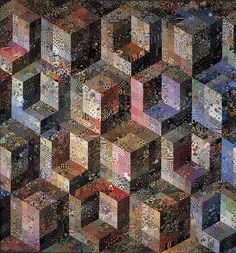 Deidre Amsden - Colorwash Cubes - Her quilts were some of the first that stunned me wow great.tumblr.com