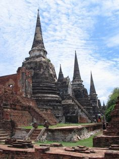 Ayutthaya, Thailand- A couple hours outside of Bangkok, there are these old ruins of ancient temples, perhaps once the country's capital? The history and stories behind the ruins and remaining statues was incredible.