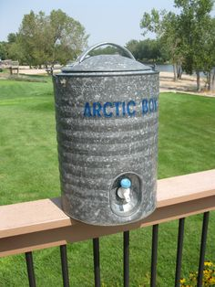 Retro Arctic Boy Water Cooler-3 Gallon-Galvanized Metal-Excellent Condition-swinging handle-Water jug-Industrial-Tailgating- St Louis-1970's by oakiesclaptrap on Etsy