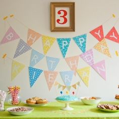 A simple yet colourful DIY birthday party for my three year old. or any age