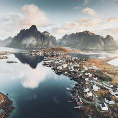 "1,130 Likes, 9 Comments - NORWAY  (@norge) on Instagram: ""The wonderful @Lofoten Islands  #Norge photo by @stianmklo"""