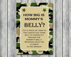 Instant Download Camo baby shower game by MagicalPrintable on Etsy