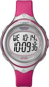 Timex Ironman Clear View (Pink) 30 Lap is an easy to use watch with feminine design and large, easy to read digital display.