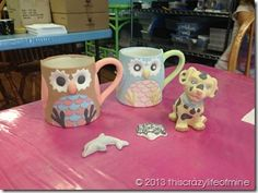 Pottery painting fun!