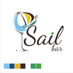 bar and wine store logo for De Sail Bar ( Bali - Indonesia )