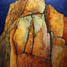 Pinnacle, 020916 by Carol Nelson Acrylic ~ 36 x 36