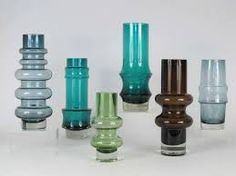 Collection of Six Finnish Vases by Tamara Aladin Vases For Sale, Art Of Glass, Retro Art, Antique Glass, Glass Design, Flower Vases, Scandinavian Design, Lassi, Aladdin