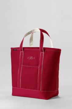 Large Colored Open Top Tote Bag from Lands' End