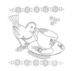I love this pattern.....precious birdie.  Reminds me of days with my grandmother.
