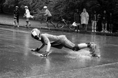 Committed to the line... there is a big gap between the skill needed for a little bit of sliding and serious downhill drifting. Now add water... This dude has well and truly got his shit sorted and what a cool shot SkullyBloodrider.