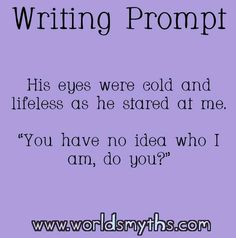 Prompts, writing prompts for writers, book prompts, dialogue prompts, w Picture Writing Prompts, Book Prompts, Writing Prompts For Writers, Creative Writing Prompts, Book Writing Tips, Writing Words, Writing Quotes, Writing Skills, Essay Writing