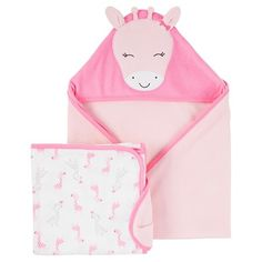 065d6dc4c Baby Girls' Pink Giraffe 2 Pack Towels - Just One You™Made by Carter's