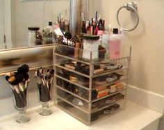 Clear Cube Makeup Organization
