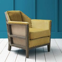 Hoxton Armchair in Mustard Velvet - Armchairs - Seating - Sofas & Seating