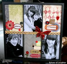 Christmas Photo Trays-Great gift idea for grandparents!