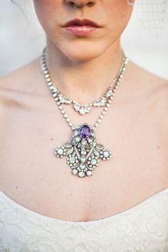 Elegant Victorian brooch rhinestone necklace. #CCRitzyRose @Charming CHARLIE