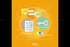 SEO Optimization Concept by robuart on Creative Market