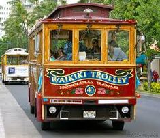 Waikiki Trolley is what you typically catch to get from/to Ala Moana shopping centre.  You buy your ticket on board.  Cheap and easy to use although you need to have cash on you to use it.  Runs from morning to later in evening.  The JAL ones that you will see are not for public use so can't get on these.
