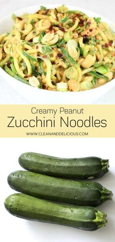 This creamy peanut salad is a healthy and delicious recipe to use up any summer zucchini you have. It works great as a cold side dish and can easily be bulked up into a main meal by adding in some shredded chicken or chopped tofu. Enjoy it before summer's over! (Gluten Free, Low Carb   Vegan).
