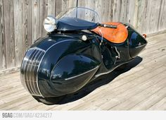 Custom-built Henderson motorcycle from the 30's