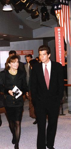 Jackie & John F. Kennedy, Jr. at dedication of new museum - John F. Kennedy