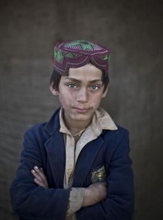 Ibraheem Rahees, age 8, an Afghan refugee now living in Islamabad, Pakistan - Found via Buzzfeed
