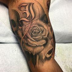 Rose tattoo @mike_tattoo