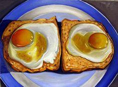 Image Detail for - Vic Vicini: Food Paintings Food Artists, Watercolor Food, Food Painting, Painting Art, Paintings, Egg Toast, Food Drawing, Ap Art, Still Life Art