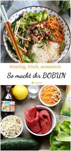 Vietnamese Recipes, Asian Recipes, Ethnic Recipes, Bo Bun, Bun Cha, Healthy Snacks, Healthy Recipes, Food Inspiration, Good Food