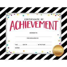 Recognize and celebrate students' achievements or special occasions with these Bold & Bright Certificate of Achievement Awards. Graduation Certificate Template, Certificate Of Achievement Template, Free Printable Certificates, Certificate Design, Award Certificates, Certificate Templates, Medical School Interview, Junior Achievement, Kids Awards
