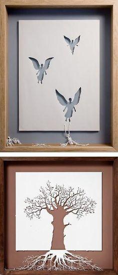 Paper Cut Sculptures by Peter Callesen by Wynee